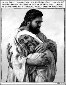 Am4 Isus bin Laden, semitski zagrljaj